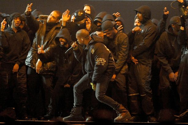 Kanye West performs 'All Day' at BRIT awards