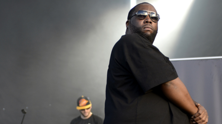 AUSTIN, TX - NOVEMBER 07:  El-P (L) and Killer Mike of Run the Jewels perform during the Fun Fun Fun Festival at Auditorium Shores on November 7, 2014 in Austin, Texas.  (Photo by Tim Mosenfelder/Getty Images)