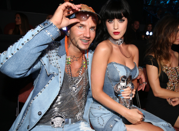 INGLEWOOD, CA - AUGUST 24:  Rapper Riff Raff (L) and recording artist Katy Perry attend the 2014 MTV Video Music Awards at The Forum on August 24, 2014 in Inglewood, California.  (Photo by Christopher Polk/MTV1415/Getty Images for MTV)