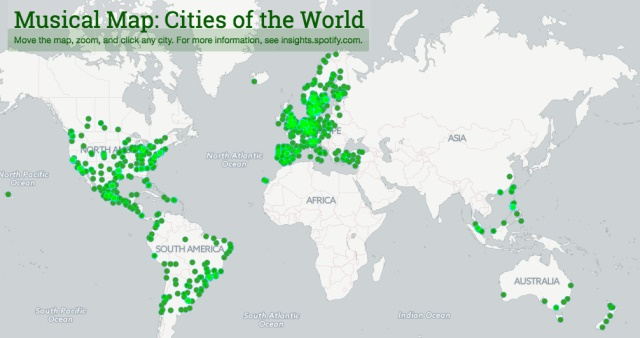 Spotify launches musical map cities of the world spotify launches musical map cities of the world gumiabroncs Images