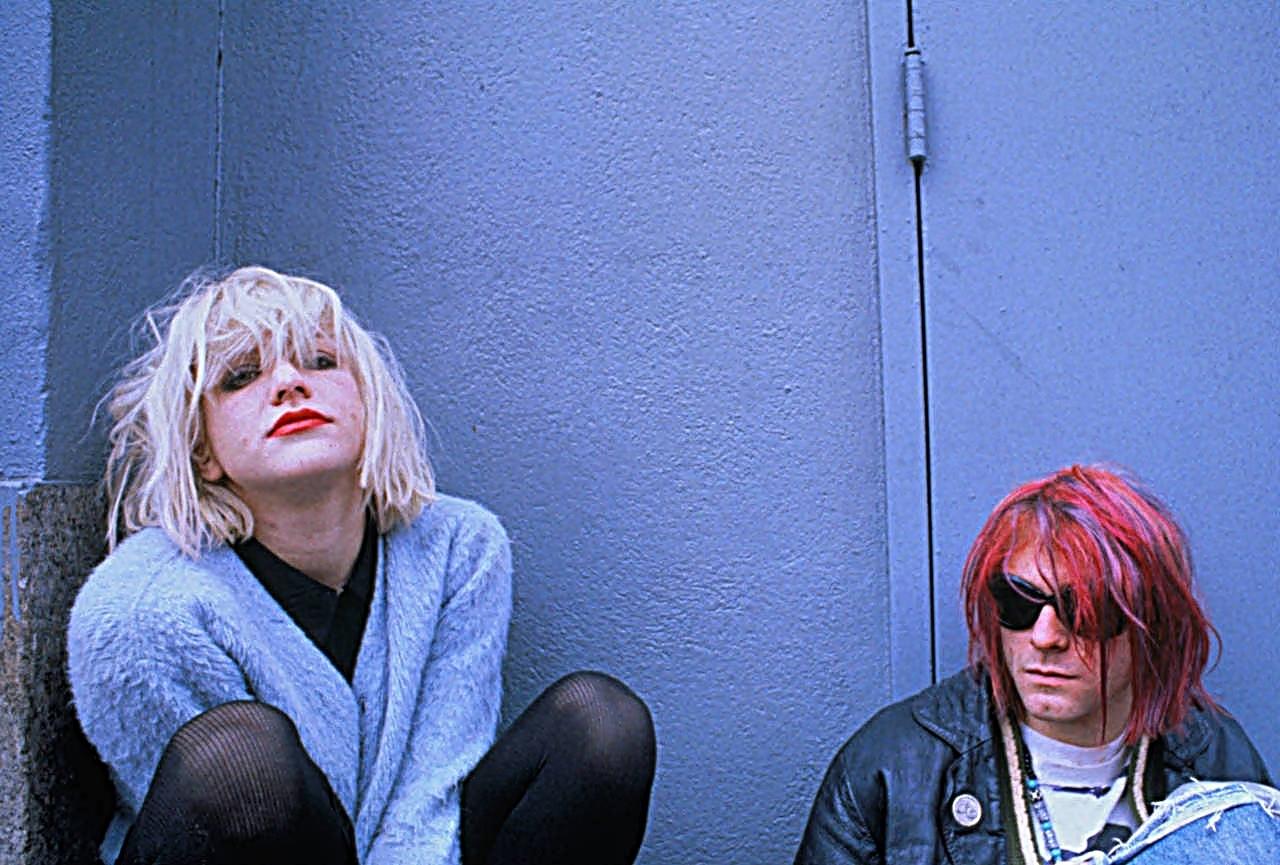 ca. 1992 --- Courtney Love and Kurt Cobain --- Image by © Dora Handel/CORBIS OUTLINE