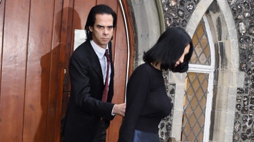 Nick Cave and wife Susie Bick at Brighton Coroner's Court