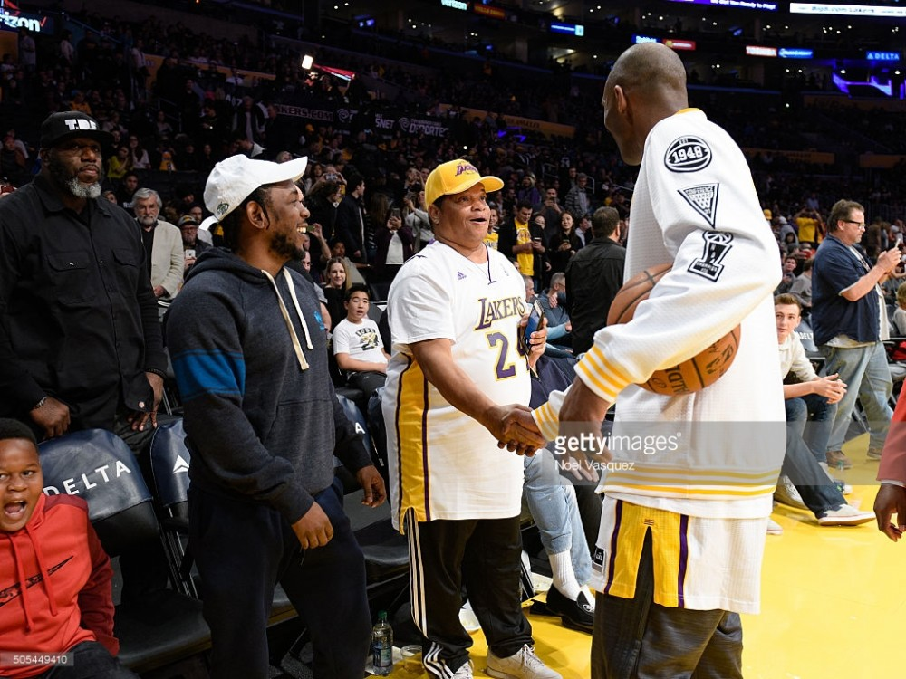 Lamar and Bryant talking during a recent game. Photo: getty Images