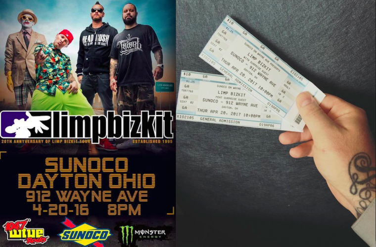 Flyers and tickets for the show. Image via Newswheel
