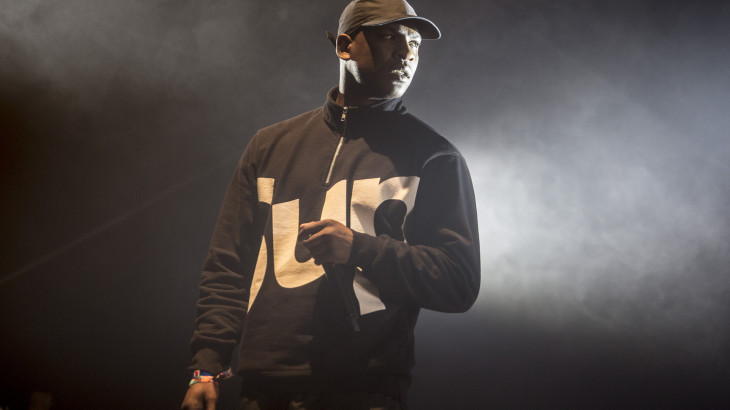 NEWPORT, ISLE OF WIGHT - SEPTEMBER 13:  Joseph Junior Adenuga, stage name Skepta, performs on day 4 of Bestival at Robin Hill Country Park on September 13, 2015 in Newport, Isle of Wight.  (Photo by Rob Ball/WireImage)