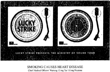 Ministry of Sound Tour Flyer. Image: The European Journal of Public Health