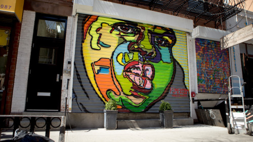From a tribe called quest to biggie hip hop murals as for Biggie smalls mural brooklyn