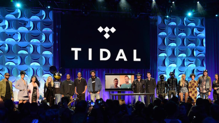 NEW YORK, NY - MARCH 30:  Usher, Rihanna, Nicki Minaj, Madonna, Dead Mouse, Kanye West, Jay Z, Jason Aldean, Jack White, Daft Punk, Beyonce and Win Butler attend the Tidal launch event #TIDALforALL at Skylight at Moynihan Station on March 30, 2015 in New York City.  (Photo by Kevin Mazur/Getty Images For Roc Nation)