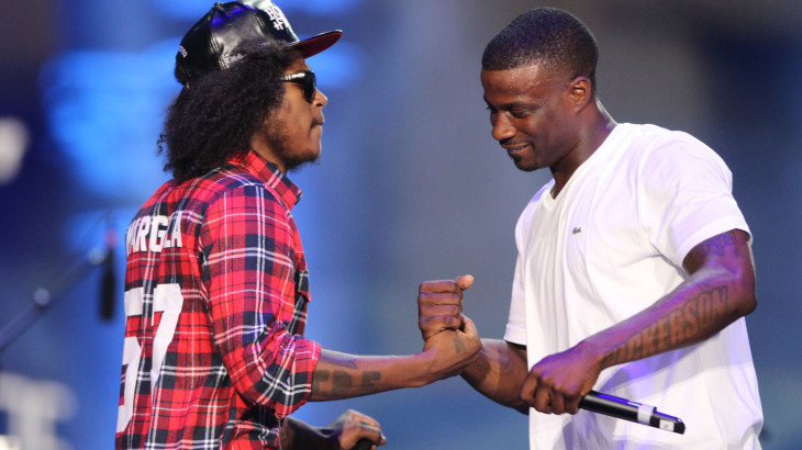Ab Soul and Jay Rock perform at day 1 of the Made In America Festival at Grant Park in Downtown Los Angeles (Photo by Cody Black/KROQ.com)
