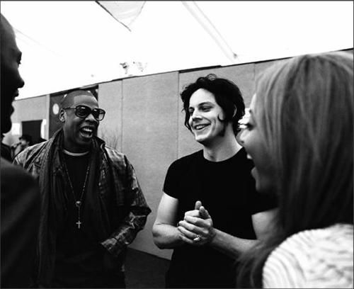 Bey, Jay and Jack at Glastonbury Festival in 2008. Image: Pinterest