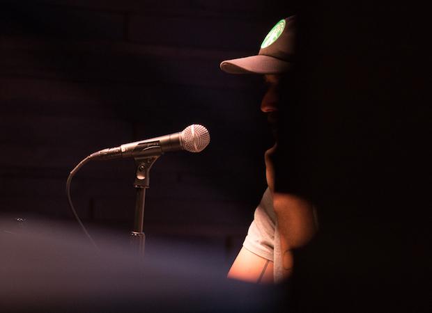 Bon Iver's press conference. Image: Graham Tolbert / Pitchfork