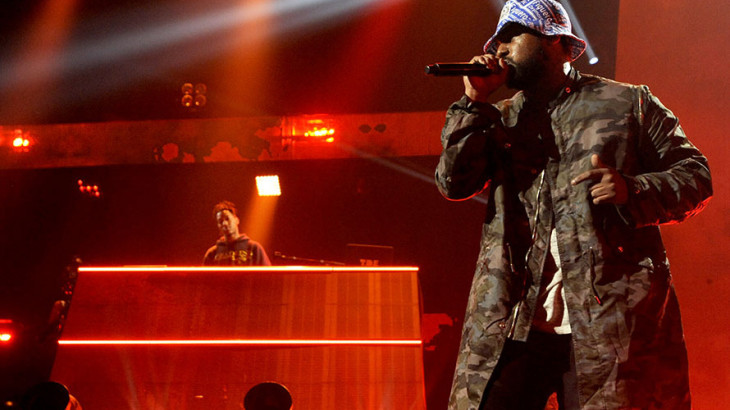 AUSTIN, TX - MARCH 12:  Schoolboy Q performs as part of the iTunes Festival at the Moody Theater on March 12, 2014 in Austin, Texas.  (Photo by Tim Mosenfelder/Getty Images)