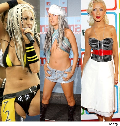 The many looks of Xtina. Image: TMZ