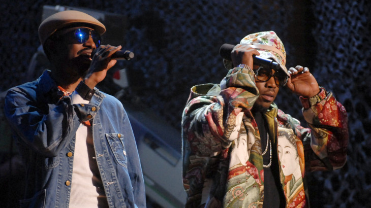 Andre 3000 and Big Boi of Outkast during 2006 VH1 Hip Hop Honors - Show at Hammerstein Ballroom in New York City, New York, United States. (Photo by Theo Wargo/WireImage)