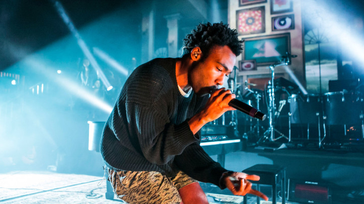 DETROIT, MI - MARCH 22:  Donald Glover performs as Childish Gambino during his Deep Web Tour at The Fillmore on March 22, 2014 in Detroit, Michigan.  (Photo by Scott Legato/Getty Images)