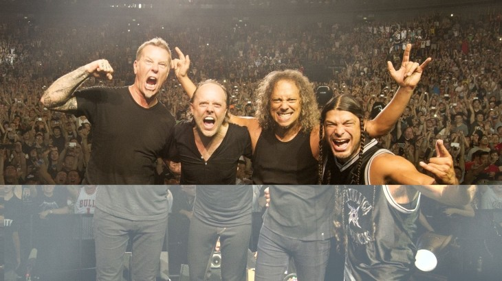 Metallica at a packed concert this week at Shanghai's Mercedes-Benz Arena.